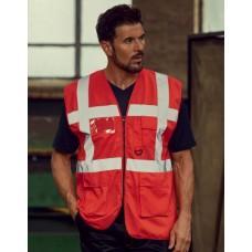 Sarkana drošības veste ar kabatām Nr.120/44s