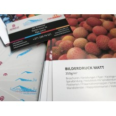 Vizītkartes ar soft touch pārklājumu/divpusēja druka Nr.203/8
