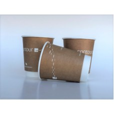 Bio papīra krūzes ar apdruku Nr.234/14 - 220 ml (divu slāņu)